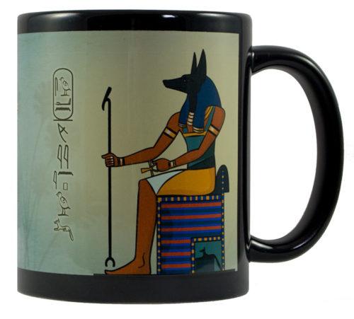 Anubis mit dem Wunschnamen in Hieroglyphen