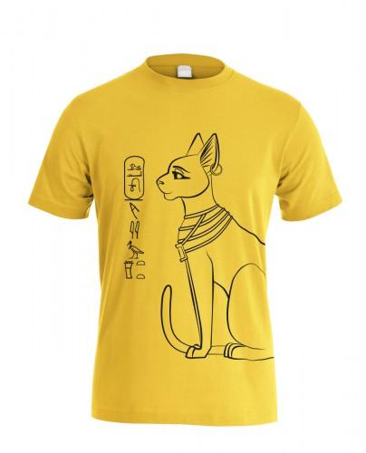 Herren T-Shirt Bastet, gold-schwarz