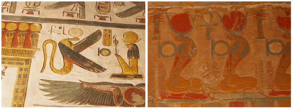 Wadjet im Karnak-Tempel/Hatschepsut-Tempel