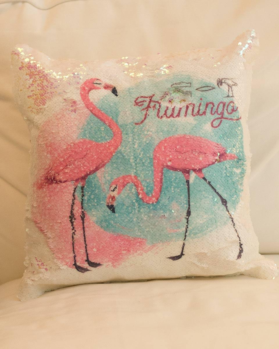 pailletten kissen mit motiv flamingo mit zweifarbigen wendepailletten selket 39 s gypten shop. Black Bedroom Furniture Sets. Home Design Ideas
